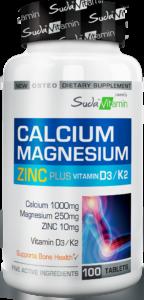 Calcium, Magnesium, Zinc Plus Vit D3 & K2
